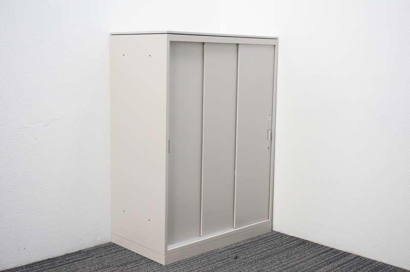 オカムラ レクトライン 3枚引戸書庫 天板付 W800 D450 H1115 Z13色