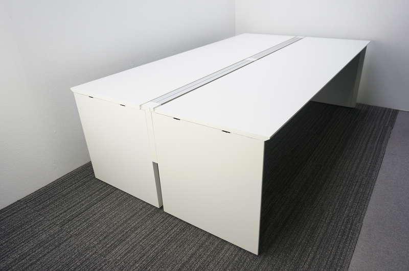 コクヨ ワークヴィスタ フリーアドレス 2414 W2400天板×2枚 4席分 ホワイト H720