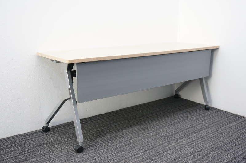 オカムラ フラプター フラップテーブル 1860 幕板付 網棚付 H720 ネオウッドライト