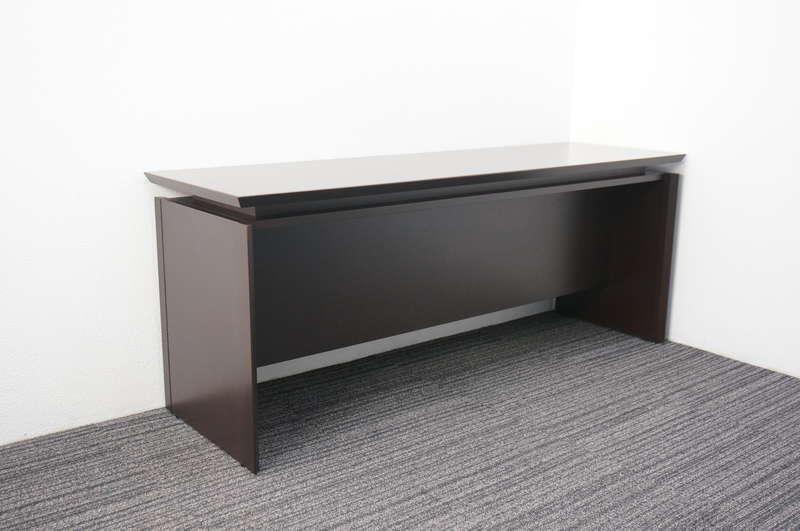 イトーキ X-19 木製サイドテーブル W1800 D550 H720 オークダークブラウン (2)