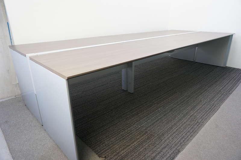 コクヨ ワークヴィスタ フリーアドレス 4814 W2400天板×4枚 8席分 シルバー/アッシュブラウン天板