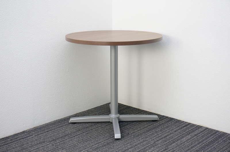 オカムラ 8177 丸テーブル Φ750 H720 ネオウッドダーク