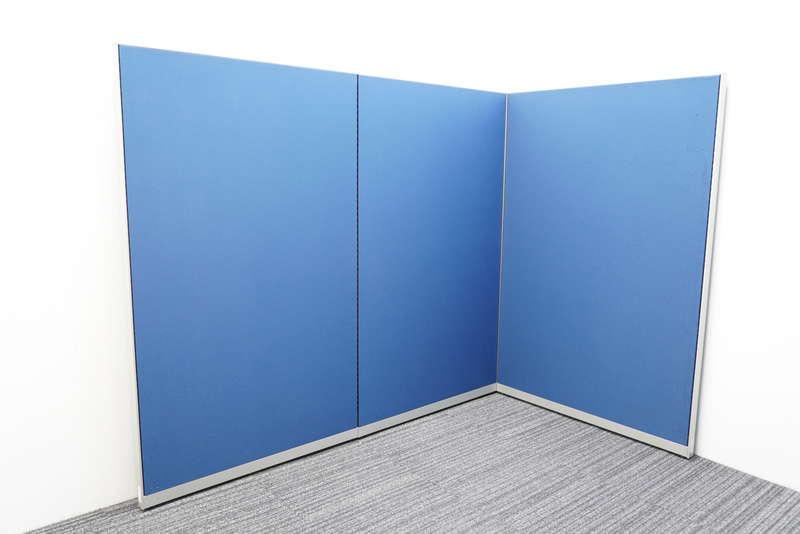 オカムラ ポジット パーティション クロスパネル ディープブルー W900×2枚/W1000×1枚 H1520
