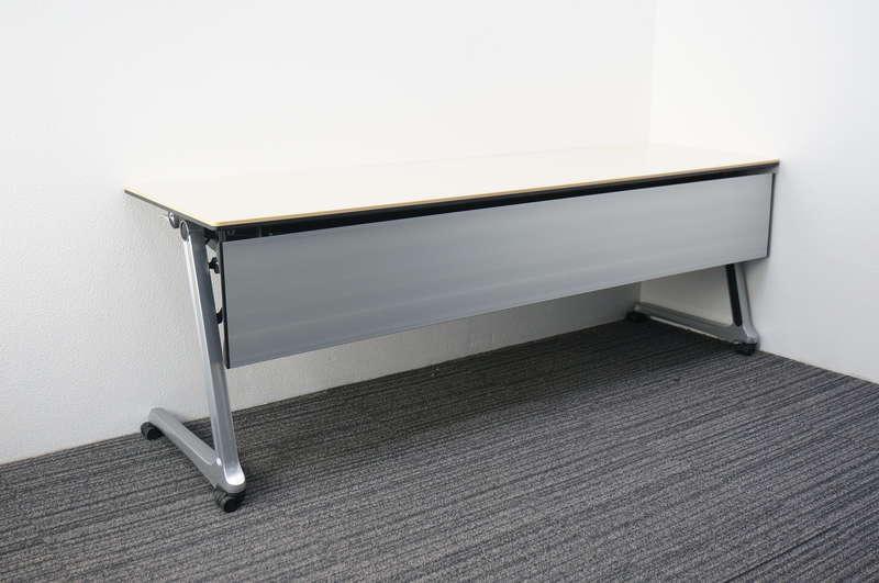 オカムラ インターアクトプロ フラップテーブル 2160 幕板付 ライトプレーン
