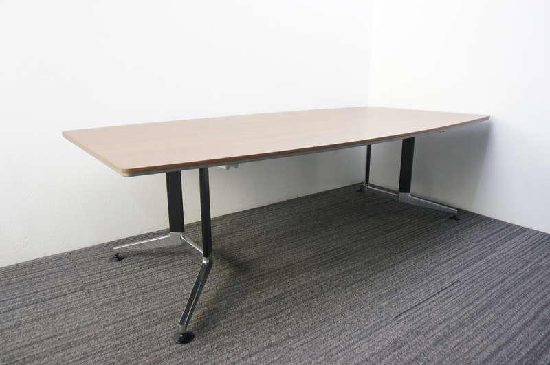 コクヨ WT-300 ミーティングテーブル 2412 ブラウン