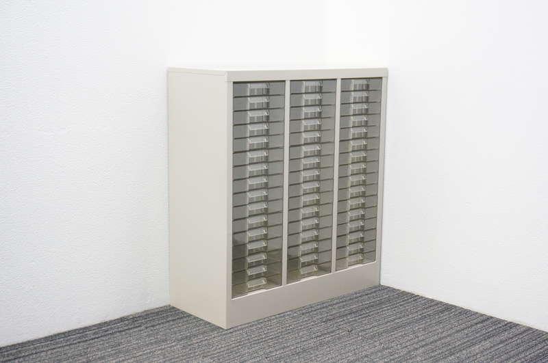 コクヨ 書類整理庫 3列16段 A4 浅型 W800 D335 H880
