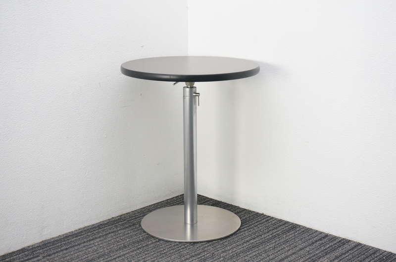ラパルマ Brioテーブル 昇降機能付 Φ600 H720-1000