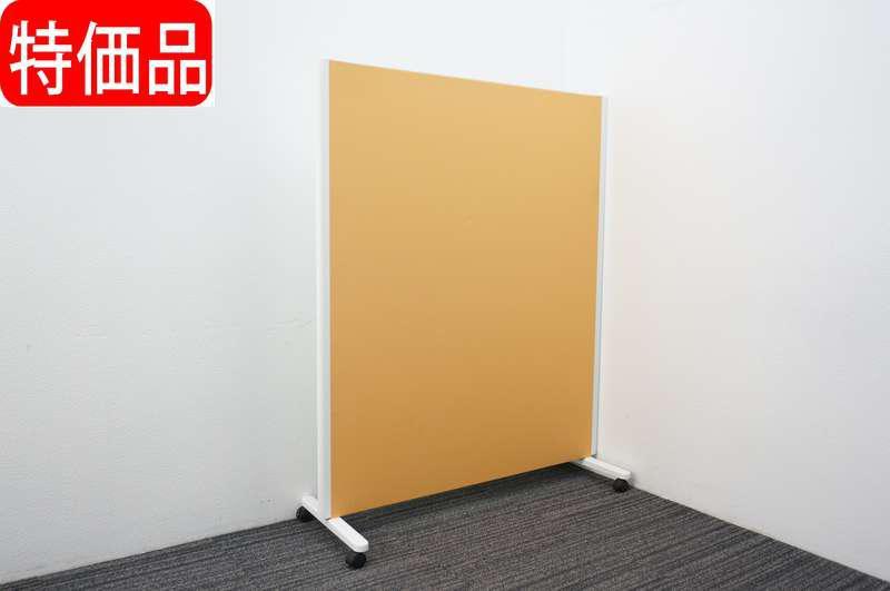 コクヨ パネルスクリーン 1連タイプ 片面ホワイトボード W1230 D455 H1500 オレンジ 特価品(2)
