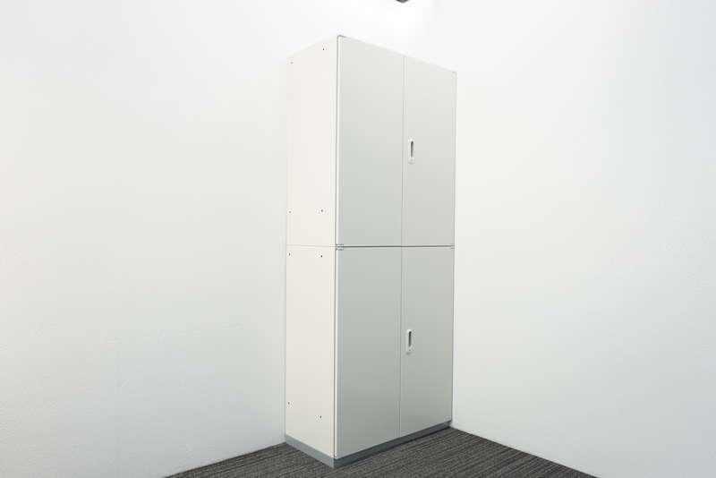 プラス LINX LX-5 両開き2段書庫 H2150 ホワイト