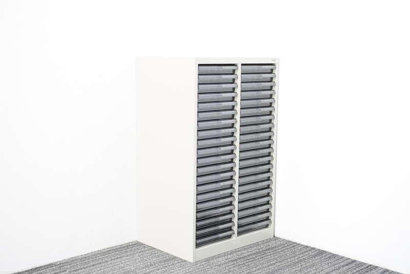 プラス 書類整理庫 2列20段 A4 浅型 W540 D400 H880