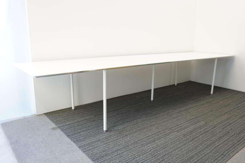 インテリアズ TEE(ティー) ミーティングテーブル アルミバイブレーション W3800 D900 H720