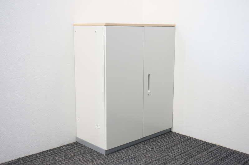 プラス L6 両開き書庫 天板付(ホワイトメープル) H1120