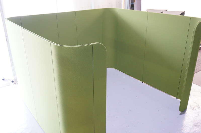 イトーキ アドサイト ディスカッションブース(ハイタイプ) パネルのみ H1800 リーフグリーン