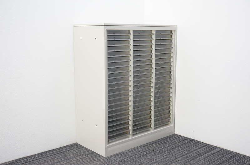 オカムラ 42 書類整理庫 3列21段 浅型 A4 天板付 H1100 Z13色
