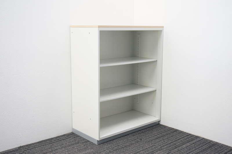 プラス L6 オープン書庫 天板付(ホワイトメープル) H1120