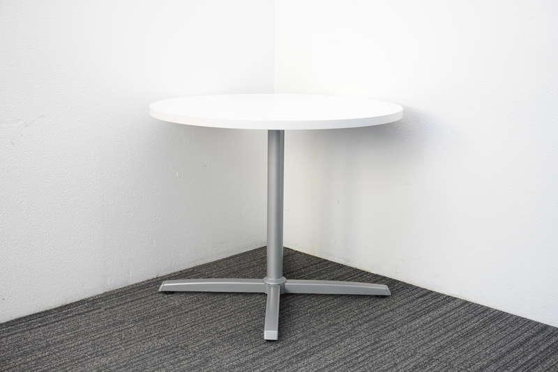 オカムラ 8177 丸テーブル Φ900 H720 ホワイト