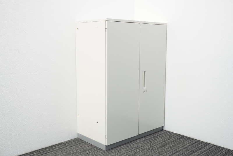 プラス L6 両開き書庫 天板付(ホワイト) W800 D450 H1120
