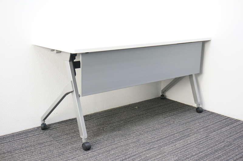 オカムラ フラプター フラップテーブル 1560 幕板付 網棚なし H720 ホワイト