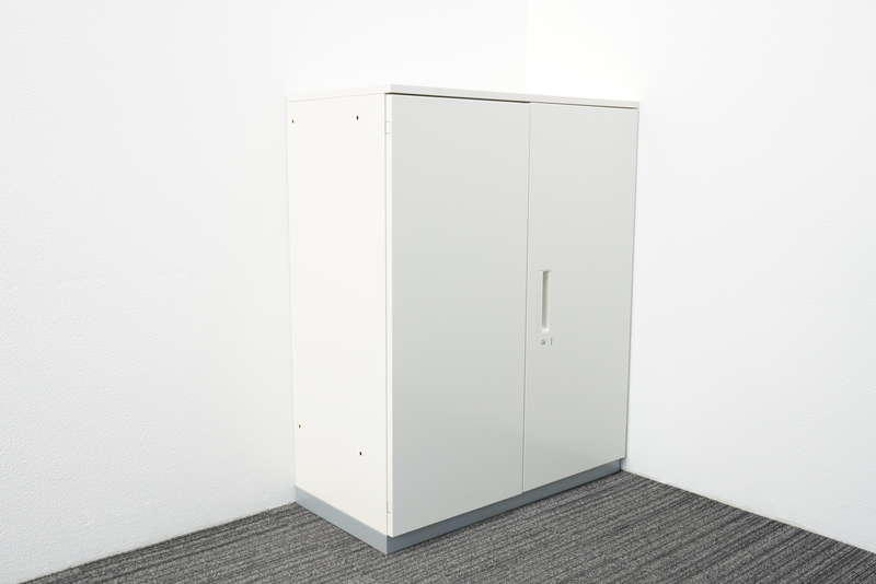 プラス L6 両開き書庫 天板付(ホワイト) H1120