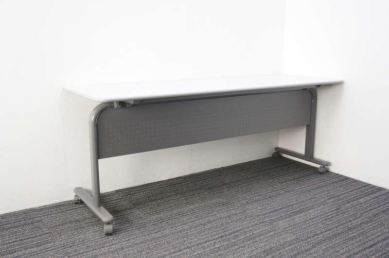 ウチダ サイドスタックテーブル SE-N型 1860 幕板付 グレイ