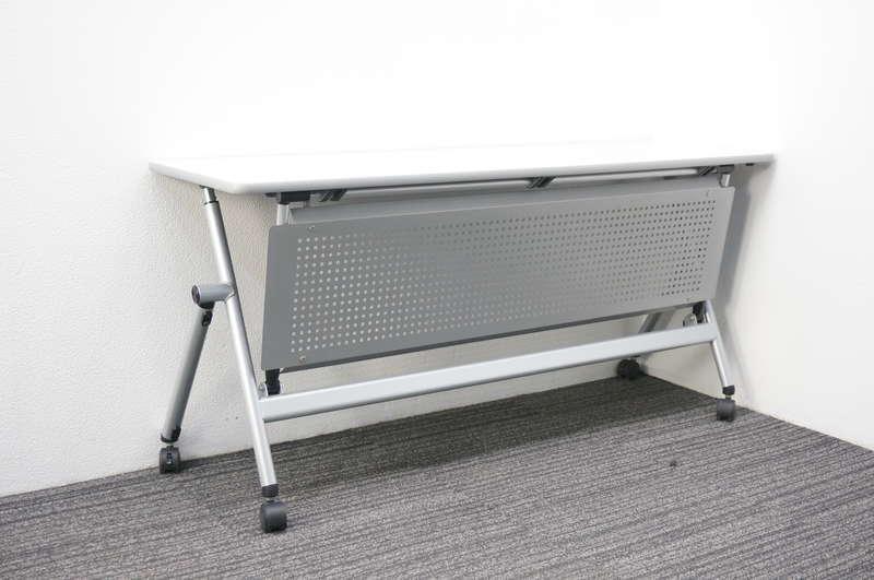 イトーキ NX フラップテーブル 1545 パンチングメタル幕板付