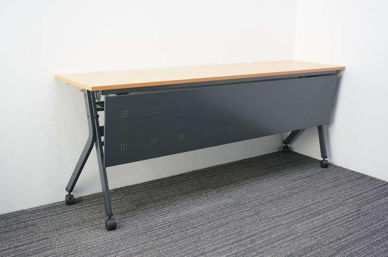 ライオン フラップテーブル 幕板付 1845 木目