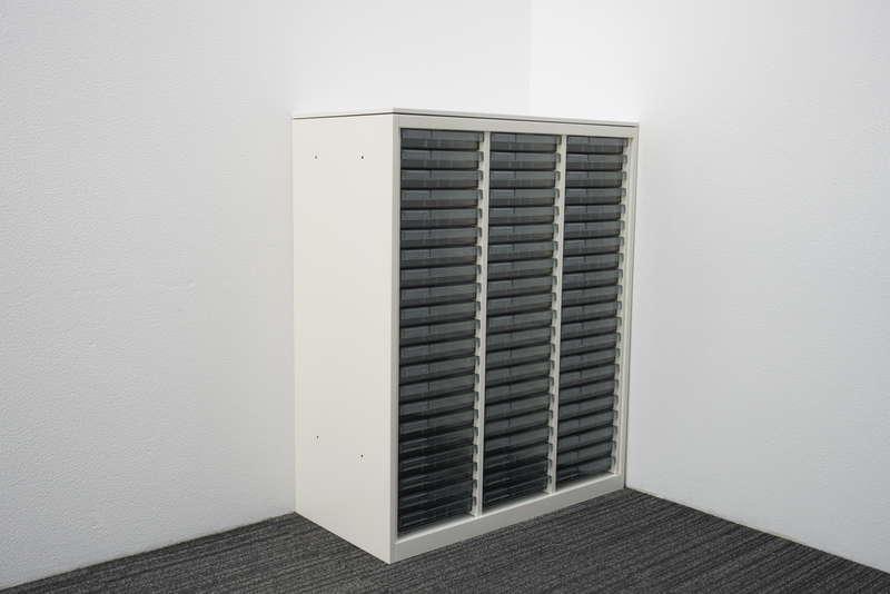オカムラ レクトライン 書類整理庫 3列21段 A4 浅型 天板付 H1115 ZA75色