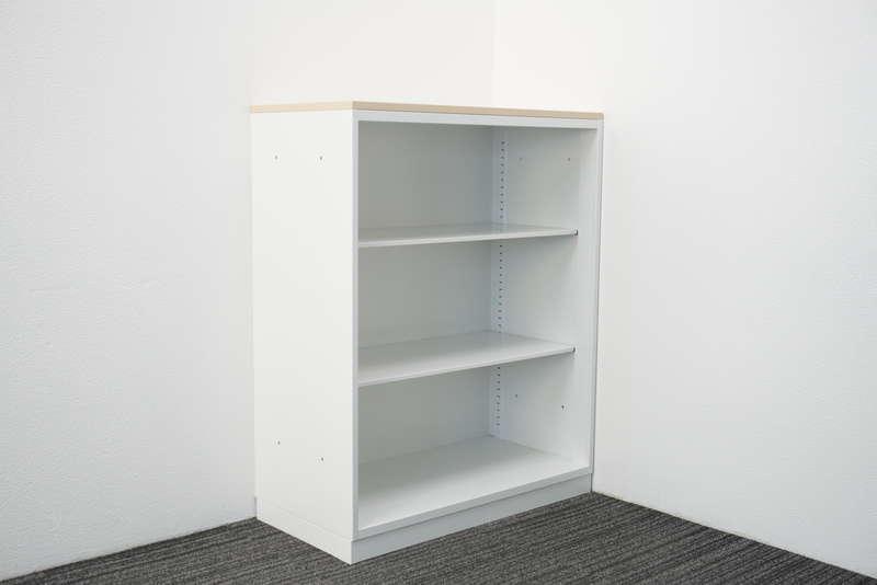 コクヨ エディア オープン書庫 天板付(ホワイトナチュラル) H1130