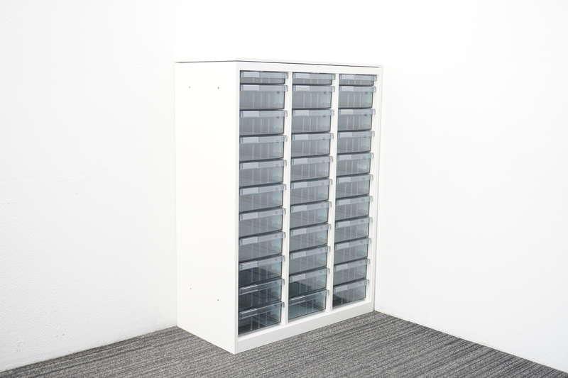 オカムラ レクトライン 書類整理庫 3列11段 コンビタイプ 天板付 W800 D400 H1115 ZA75色