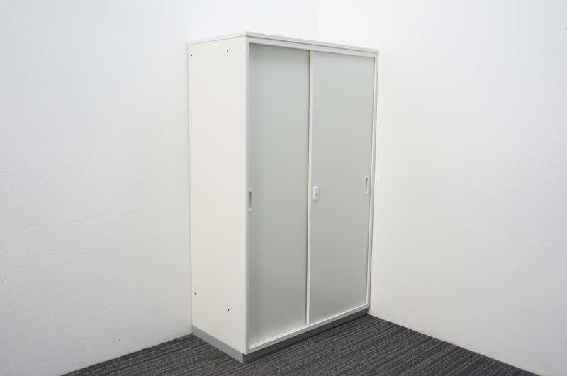 プラス LINX LX-5 2枚引戸書庫 天板付 H1495 ホワイト