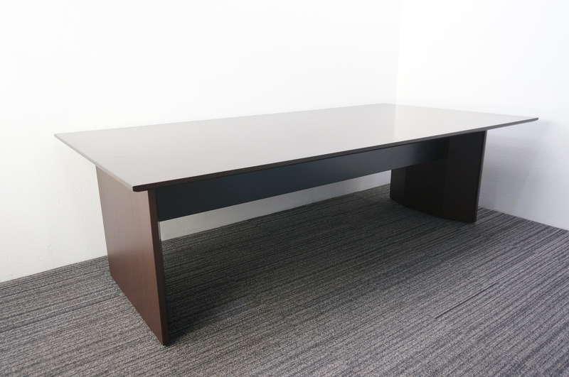 イトーキ スリックテーブル ミーティングテーブル 2412 オークダークブラウン