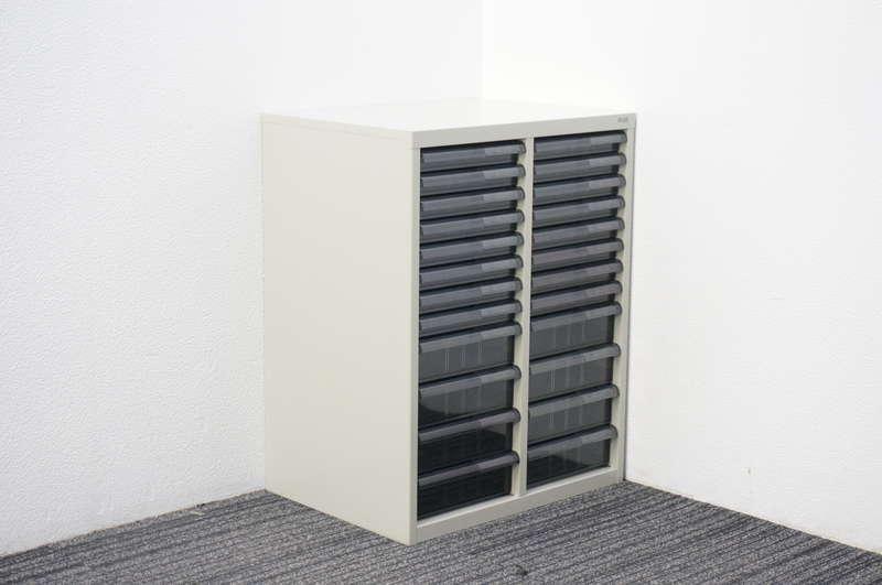 プラス 書類整理庫 2列12段 コンビ A4 W540 D400 H700