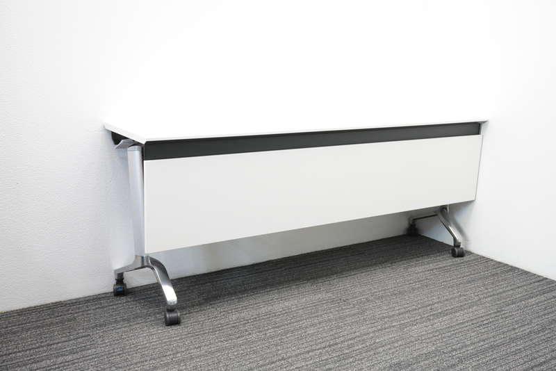 【2016年製】コクヨ コンフェスト ハイスペックタイプ フラップテーブル 棚付 幕板付 1845 ホワイト