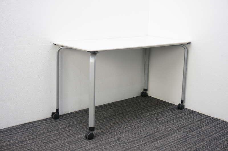 コクヨ アリーナT ミーティングテーブル 1260 キャスタータイプ ホワイト