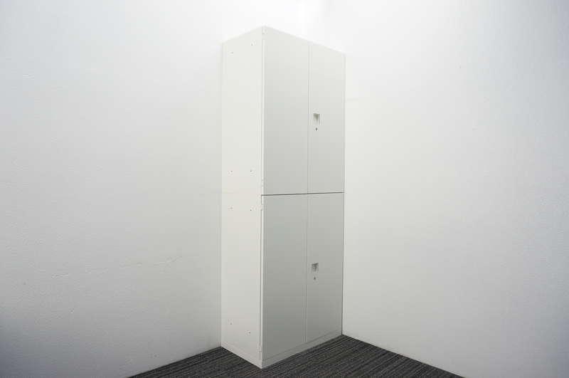 オカムラ レクトライン 両開き2段書庫 W800 D450 H2150 ZA75色