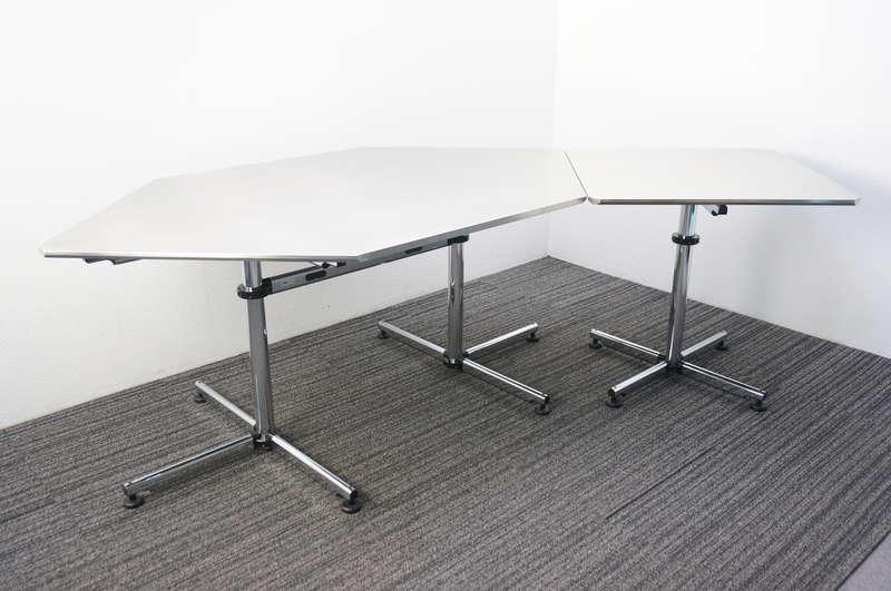 USMキトステーブル ヘキサゴン W1761 D1011 H715 + スクエア W750 D750 H715