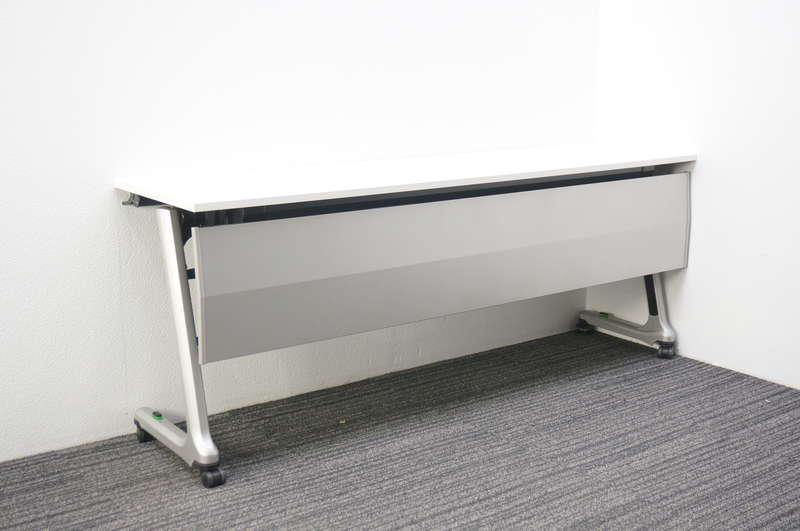イトーキ コンシア フラップテーブル 1845 幕板付 ホワイト