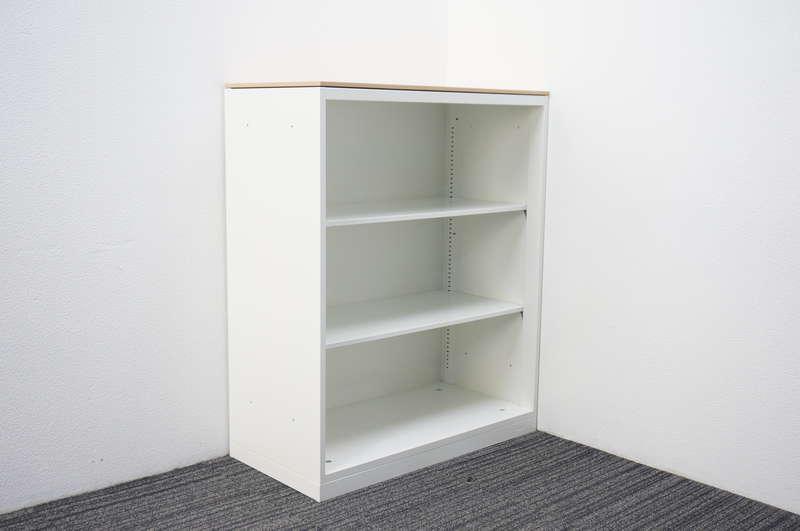 オカムラ レクトライン オープン書庫 天板付(ネオウッドライト) H1115 ZA75色