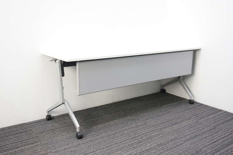 コクヨ リーフライン フラップテーブル 1860 幕板付 網棚付 ホワイト H720