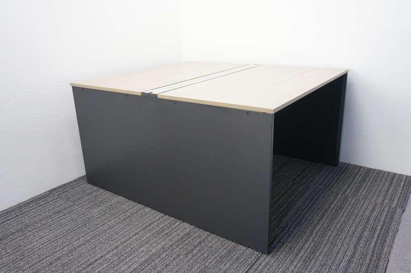 イトーキ インターリンクR フリーアドレス 1214 W1200天板×2枚 2席分 H720 アッシュドオークM/ブラック