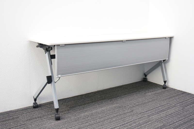 イトーキ HX フラップテーブル 1845 幕板付 棚板無し ホワイト