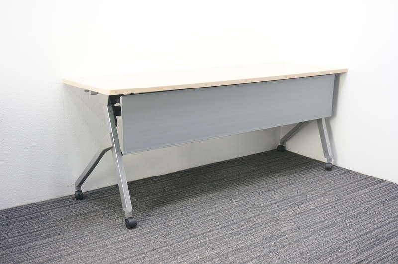 オカムラ フラプター フラップテーブル 1860 幕板付 H720 ネオウッドライト