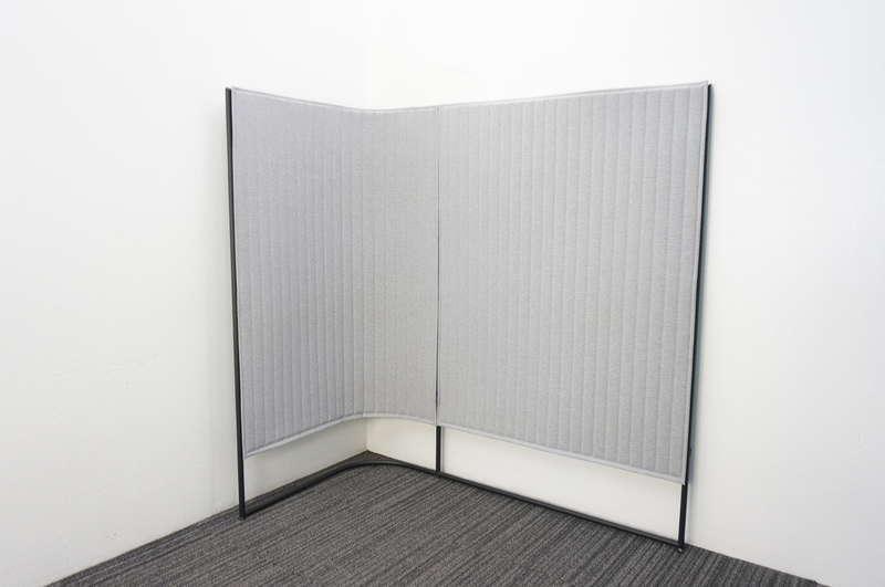 コクヨ インフレーム 単独スクリーン Lタイプ ホワイトターコイズ×グレー H1650