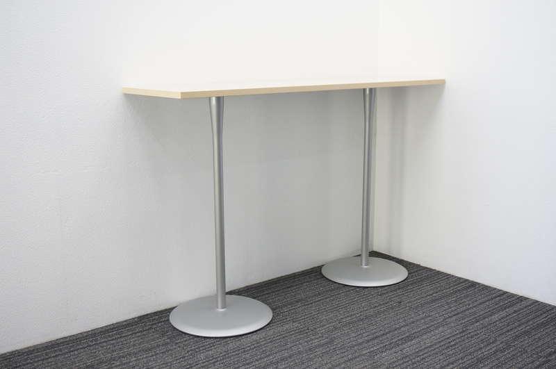 オカムラ アルトカフェ ハイテーブル 1545 H1000 ライトプレーン