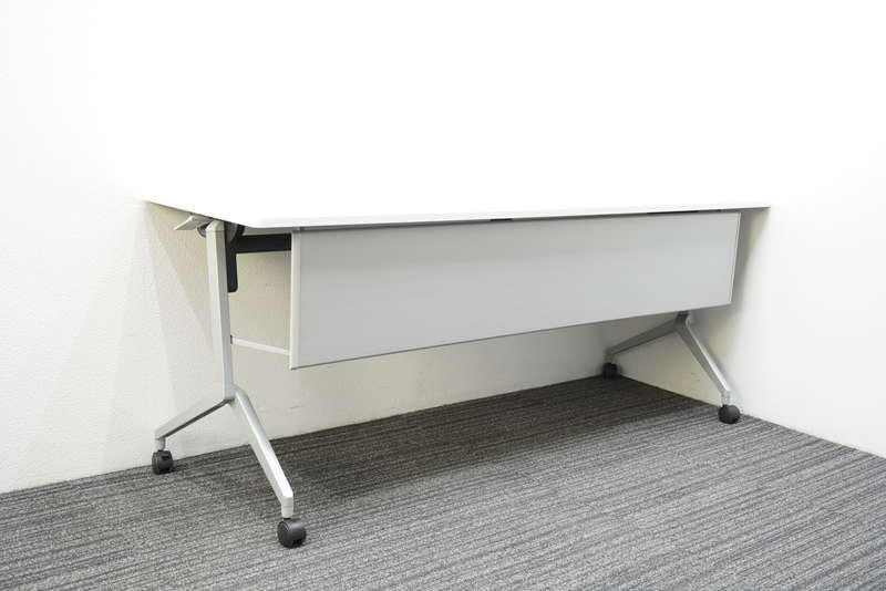 コクヨ リーフライン フラップテーブル 1860 幕板付 網棚なし ホワイト H720