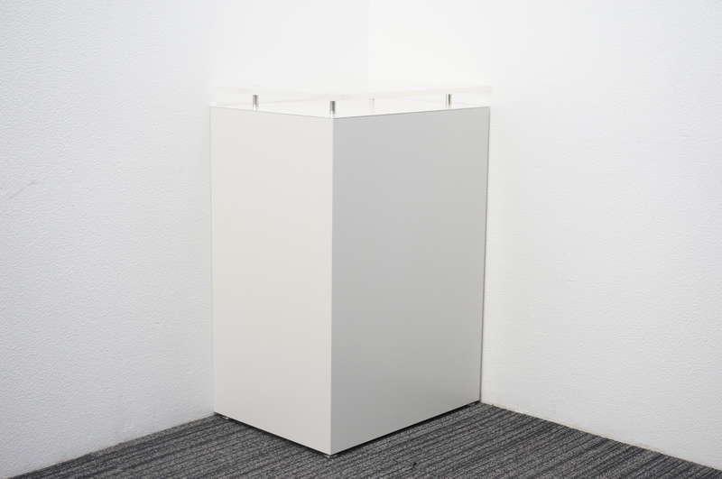 イトーキ 無人インフォメーションカウンター アクリル天板付 W600 D450 H900 ホワイト