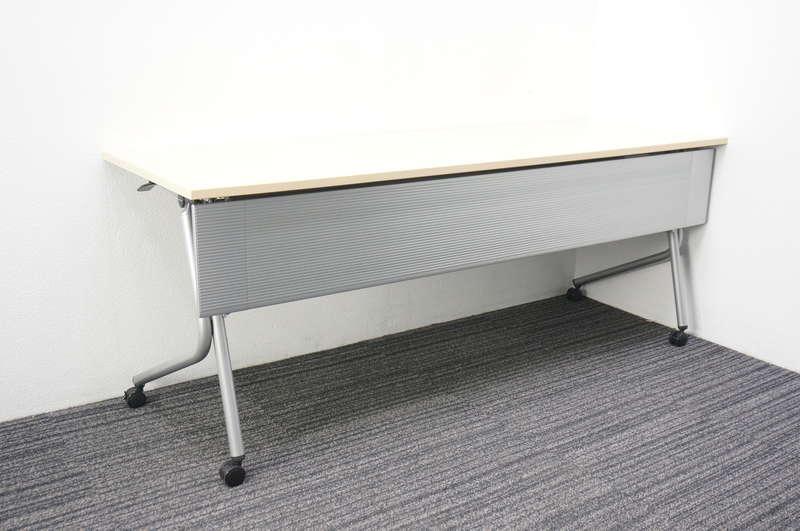 オカムラ ネスティア フラップテーブル 1860 ライトプレーン