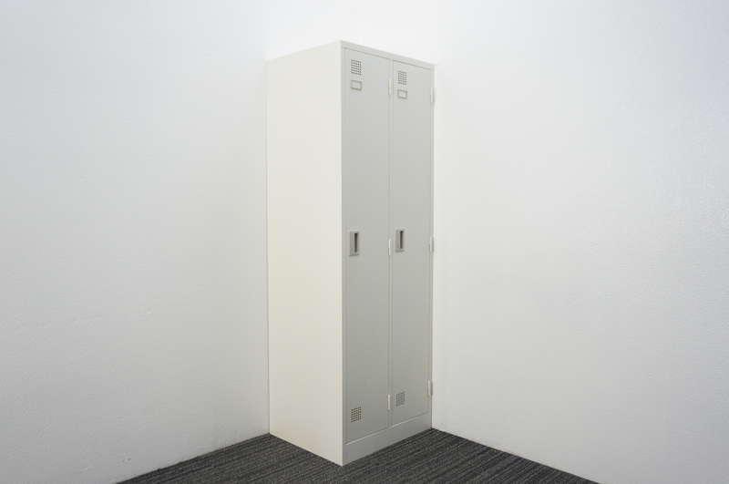 東京鋼器(株) 2人用ロッカー W608 D515 H1790 ホワイト