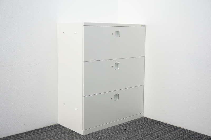 オカムラ レクトライン セパレートロック3段ラテラル(個別ロック) H1100 ZA75色