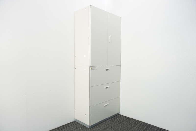 プラス LINX LX-5 3段ラテラル+両開き書庫 H2150 ホワイト